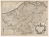 Map of the county of Flanders