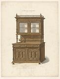 Henry II style sideboard