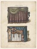 Two pianos with draperies