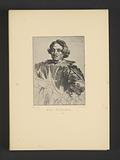 Reproduction of an engraving of a portrait of Justus Sustermans by Anthony van Dyck