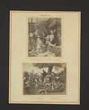 Photo reproductions of The Saint Nicholas Feast by Jan Steen and The Quack by Jan Steen