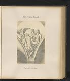 Photo reproduction of an engraving of Cupid and the Three Graces by Marcantonio Raimondi