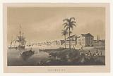 View of the quay and harbor of Paramaribo on the Suriname River