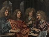 Group portrait of four artists