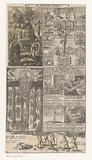 Collage of five prints with biblical scenes
