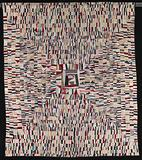 Untitled (String Quilt, Housetop Pattern)