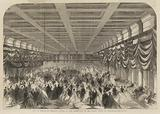 Ball in Honour of President Lincoln in the Great Hall of the Patent Office at Washington, from the Illustrated London News