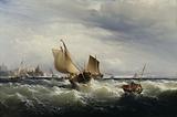 Fishing Boats Beating up to Windward