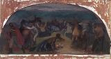 Cattle Thieves Surprised by Posse (mural study, Burns, Oregon Post Office)