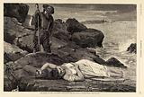 """The Wreck on the """"Atlantic"""" – Cast up by the Sea, from Harper's Weekly, April 26, 1873"""