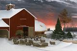 Barnyard in Winter