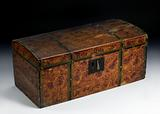 Sponge-Painted Box with Domed Lid and Trompe L'Oeil Effects