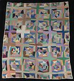 Untitled (String Quilt with White Cross)