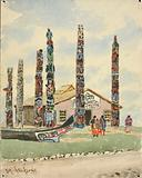 Alaska Building with Totems at St Louis Exposition