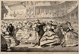 The Great Russian Ball at the Academy of Music, November 5, 1863, from Harper's Weekly, November 21, 1863
