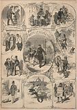 Boston Street Characters, from Ballou's Pictorial Drawing-Room Companion, July 9, 1859