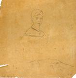 Lady in Evening Dress with Figure of Venus de Milo