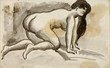 Female Nude on Hands and Knees
