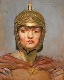 """Study for Mural for Appellate Court Building, New York. """"Statute Law"""", Helmet for Figure of """"Force""""."""