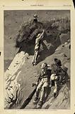 """Raid on a Sand-Swallow Colony – """"How Many Eggs?"""". , from Harper's Weekly, June 13, 1874."""