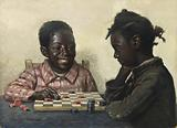 Untitled (Two Children Playing Checkers)