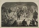 A Bivouac Fire on the Potomac, from Harper's Weekly, December 21, 1861