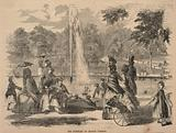 The Fountain on Boston Common, from Ballou's Pictorial Drawing-Room Companion, August 15, 1857