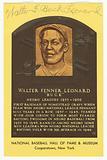 Postcard of Buck Leonard Baseball Hall of Fame plaque