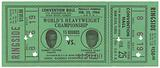 Ticket for World Heavyweight Championship fight of Sonny Liston vs. Cassius Clay.