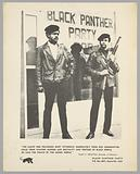 Black and white poster of Huey Newton and Bobby Seale