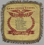 Pillow sham with Tuskegee Flying School poem