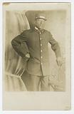 Photographic postcard of Pullman Porter, T. R Joseph.