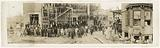 Panaromic photograph of workers outside the Grendel Textile Mill