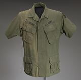 Military fatigue shirt worn by James E. Brown of the 20th Engineer Brigade.