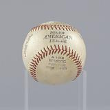 Baseball stamped with the Negro American League logo