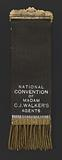 Badge from the National Convention of Madam C. J Walker's Agents.