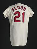 Jersey for the St. Louis Cardinals worn by Curt Flood.