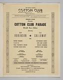 Program / Menu from the Cotton Club