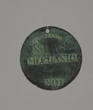 Charleston slave badge from 1801 for Mechanic No. 108.