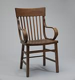 Bentwood armchair from a church in Tulsa, Oklahoma
