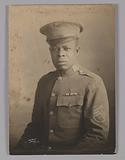 Framed photograph of unidentified WWI soldier