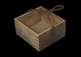 Wooden box that held tinned corned beef