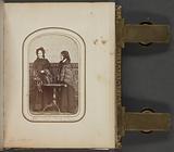 Carte-de-visite portrait of Abby and Julia Smith