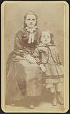 Carte-de-visite portrait of Agnes and Slocum Howland