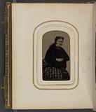 Tintype portrait of Mrs. Annie Cox.