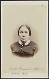 Carte-de-visite portrait of Miss Laura W. Stebbins.