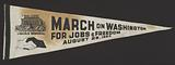 Pennant from the March on Washington carried by Edith Lee-Payne