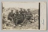 Photographic postcard of soliders in World War One at Verdun