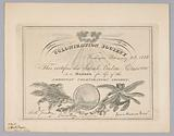 Membership certificate to the American Colonization Society