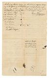 List of bonds for the hire of enslaved persons given to Evan Brown to collect